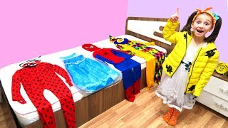 Ismet and Fatima Pretend Play with Colorful Costumes for kids