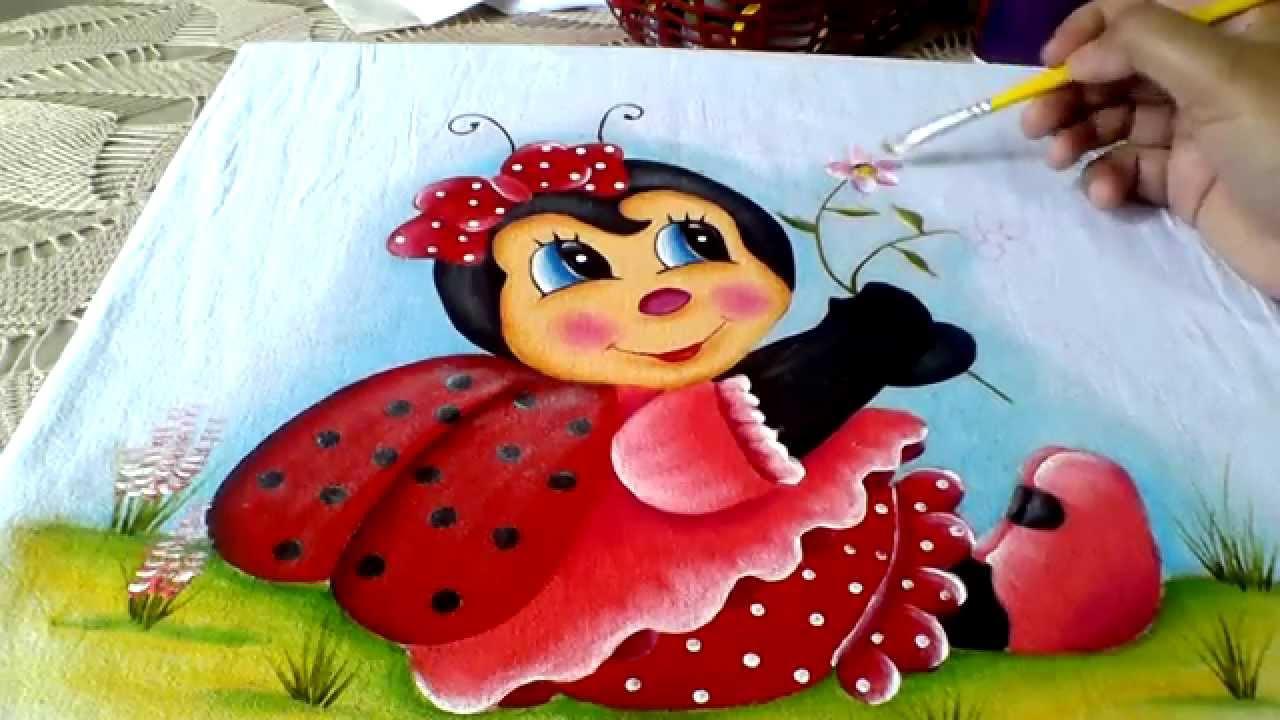 Ensinando A Pintar Joaninha Com Lia Ribeiro Parte 3 Youtube