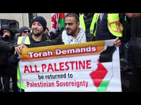 Toronto Protest outside U.S. Consulate over Jerusalem as Israel's capitol