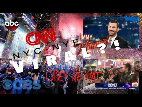 FIRST in NYC at NEW YEAR'S EVE BALL DROP and VIRAL on CNN / Jimmy Kimmel | 2017 Vlog