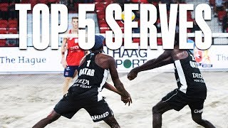 TOP 5 Serves • The Hague 4 Star 2018 • Beach Volleyball World
