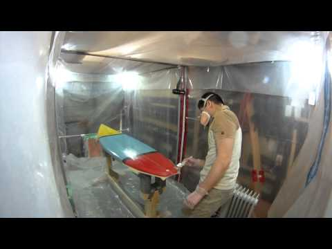 How to Build a Shortboard Surfboard - 26 - Hotcoating Deck