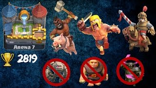 clash royale crazy op best anti golem anti pekka anti giant deck deck for lvl 7 8 9 in royal arena