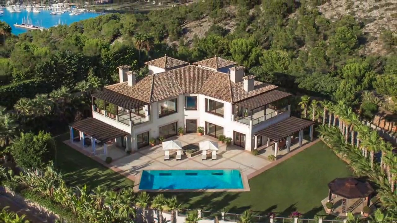 holiday rental mallorca: villa zeus in puerto de andratx - youtube