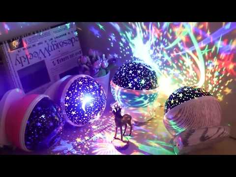Unicorn Star & Moon Rotating Projector Night Light Review Rotation Night Projection Lamp!
