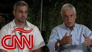 #AyudaVenezuela: Sebastián Piñera y Mario Abdo responden por qué fueron a Cúcuta