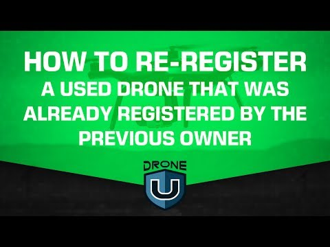 How to re-register a used drone that was already registered by previous owner