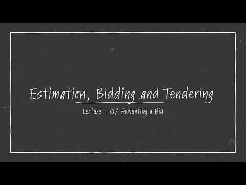 Tendering Process in Construction Industry - Prequalifying to  bid for a construction job