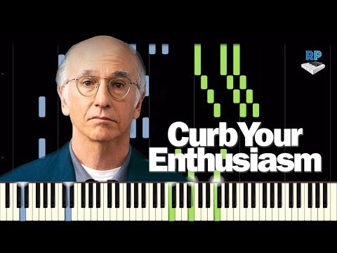 Curb your Enthusiasm Theme - 'Frolic' -  Piano Tutorial (*Updated Version)