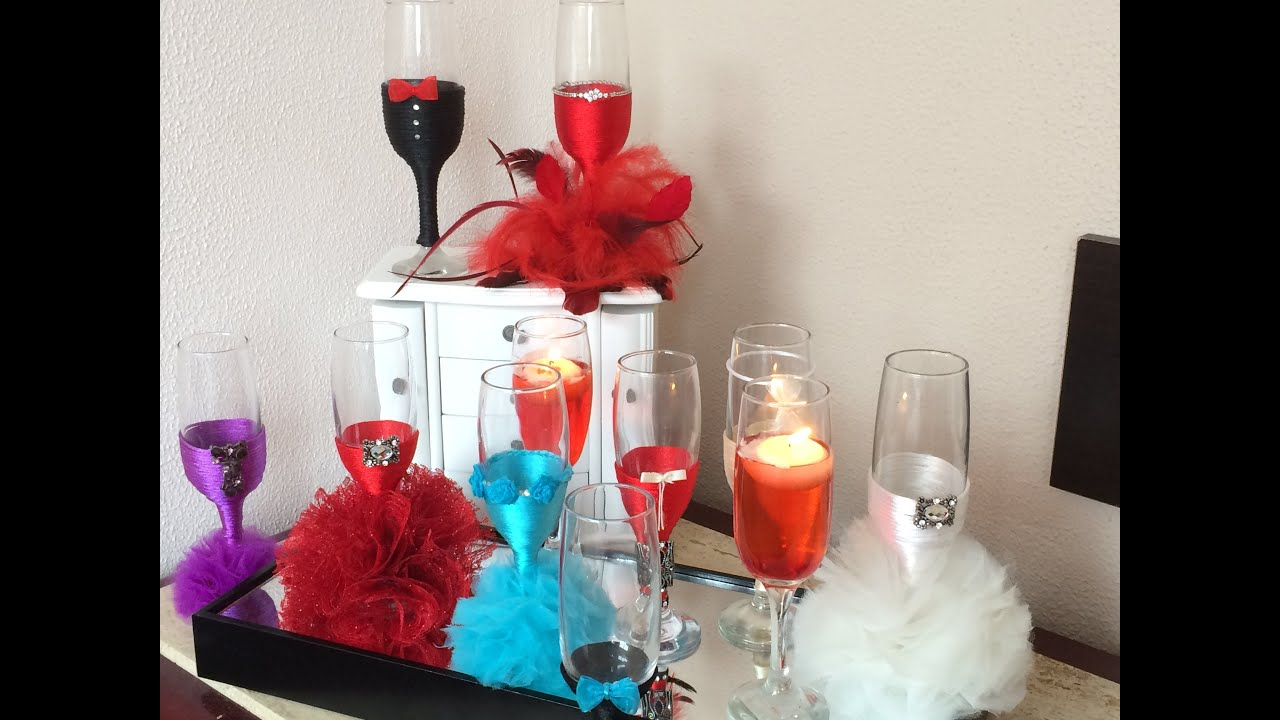 Download How to decorate glasses for wedding  turorial 1/3