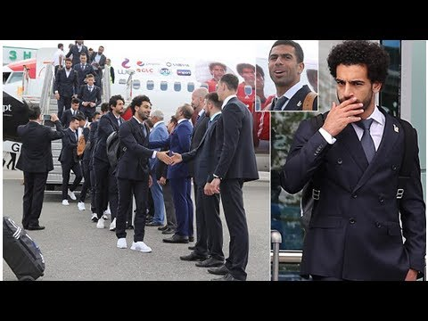 Mohamed Salah and Egypt team-mates arrives in Russia for the World Cup