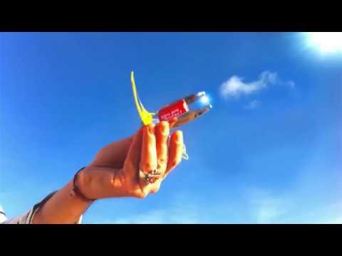 SUNcase Solar lighter : OPEN / INSERT / LIGHT