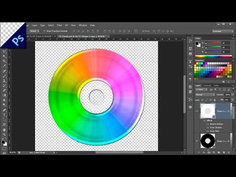 CD/DVD Using Photoshop