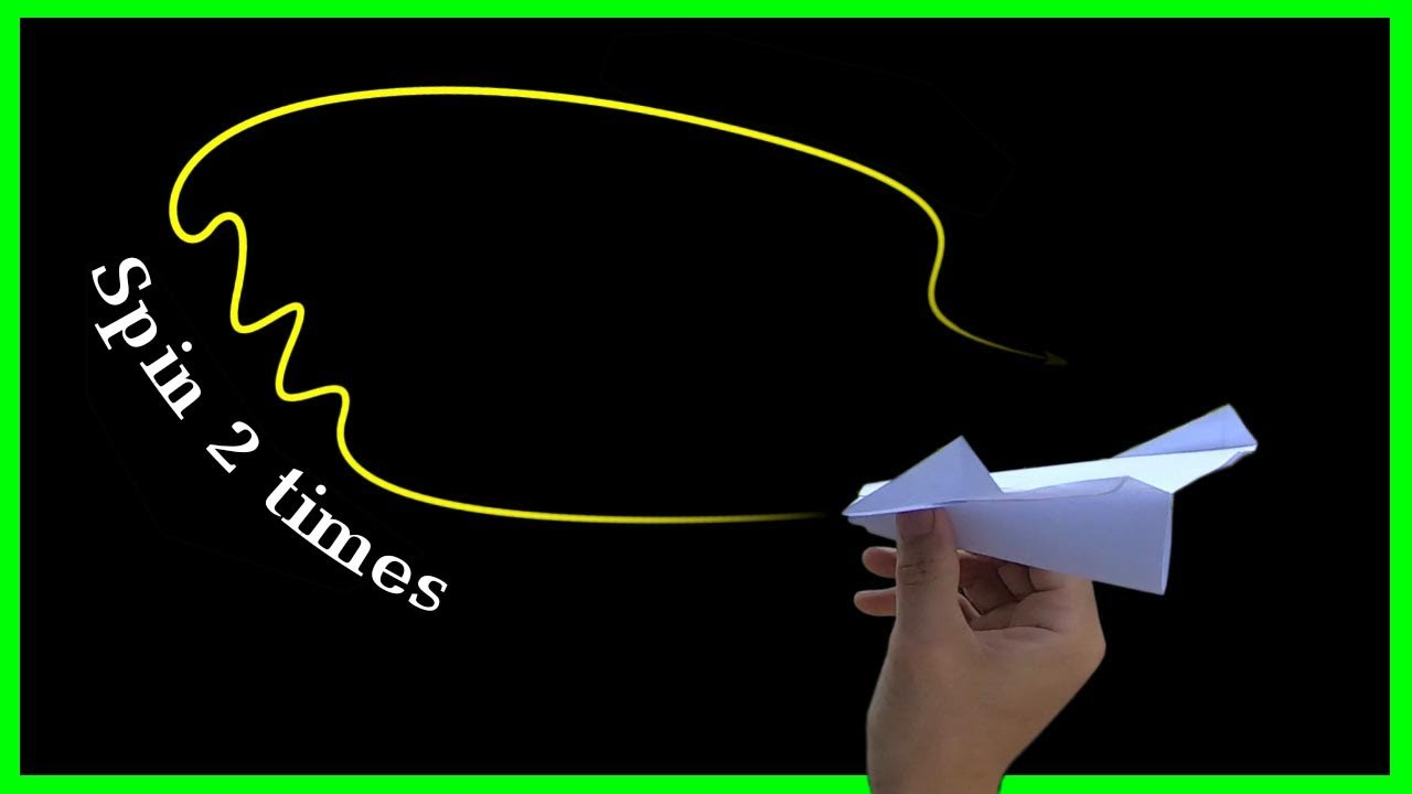 How to make paper plane spin 2 times come back  Phuc origami