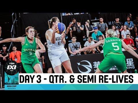 Live 🔴 - FIBA 3x3 Asia Cup 2018 - Day 3 - Quarter & Semi-Finals