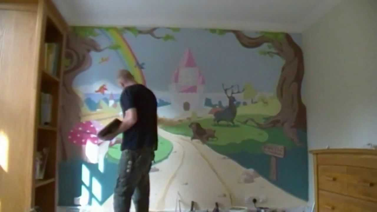 Enchanted Forest U0026 Castle Mural   Time Lapse   YouTube Part 75