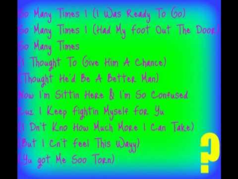 Torn: Letoya Luckett !(Lyrics)