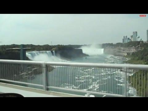 Crossing The Rainbow Bridge At Niagara Falls From Canada To USA