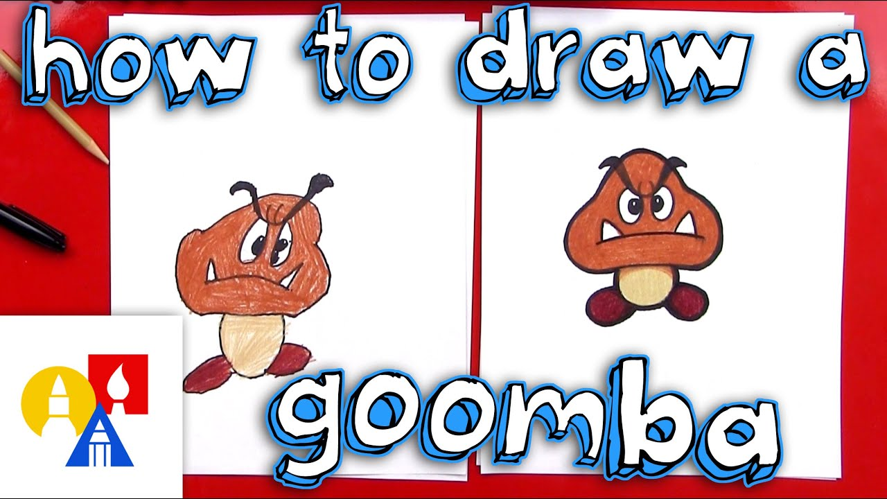 How To Draw A Goomba From Mario Bros Youtube