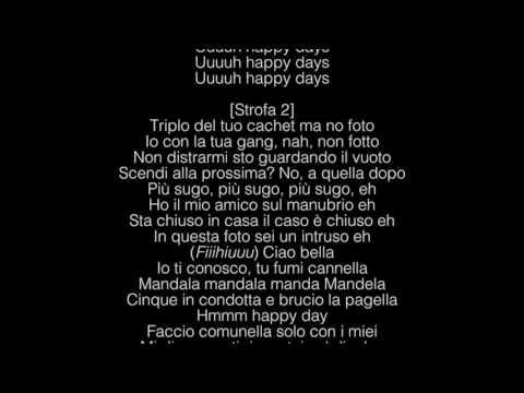 Ghali - Happy Days (LYRICS/TESTO)