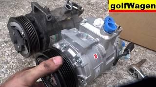 VW Golf 5 AC compressor change /pls read description/