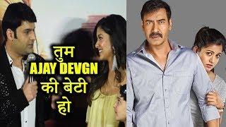 क्या तुम Ajay Devgn की बेटी हो | Kapil Sharma Trolls Ishita Dutta | Firangi Trailer Launch