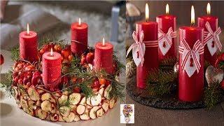 Niesamowite pomysły na świece i wieńce adwentowe #1