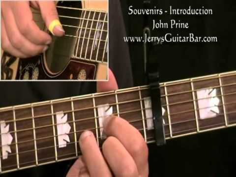 How To Play John Prine - Souvenirs (intro...