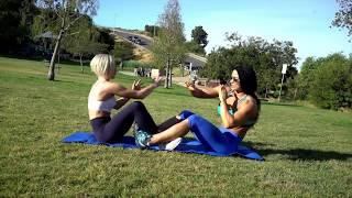 Круговая ренировка в парке с подругой / Partner workout