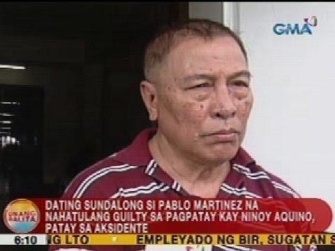 UB: Ex-Army si Pablo Martinez na nahatulang guilty sa pagpatay kay Ninoy, patay sa aksidente