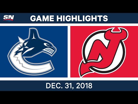 NHL Highlights | Canucks vs. Devils - Dec 31, 2018