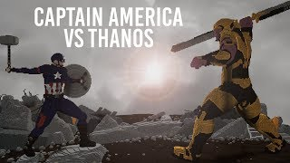 Captain America vs Thanos (Avengers: Endgame) - Minecraft Timelapse