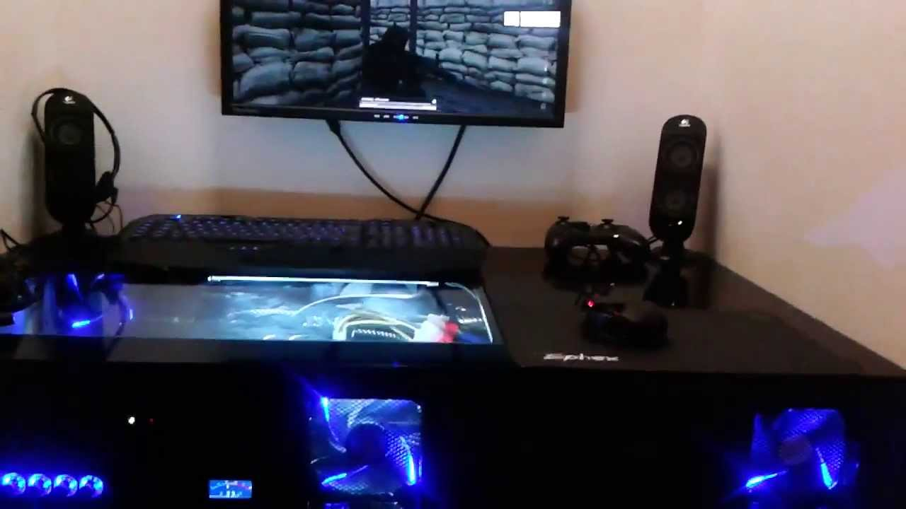J1N6L35 CUSTOM PC DESK - YouTube