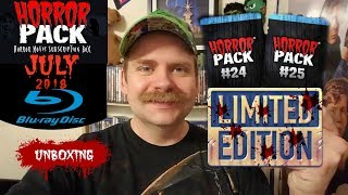 HORROR PACK JULY 2018 BLU RAY UNBOXING