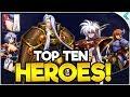 LANGRISSER M | TOP TEN BEST HEROES TO SUMMON AT LAUNCH!!