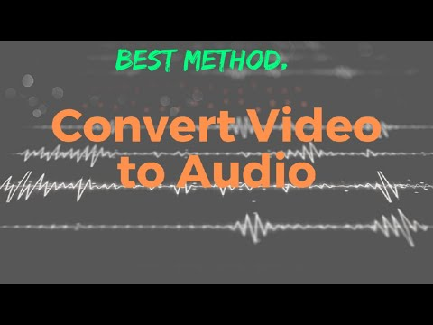 How to convert Video into Audio || How to convert YouTube Video into audio || Full method ||