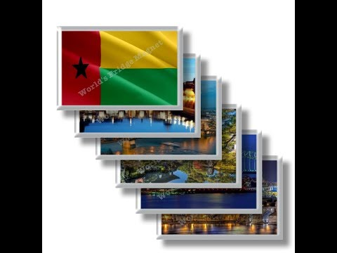 GW - Travels in GUINEA BISSAU - rectangular magnets and souvenirs