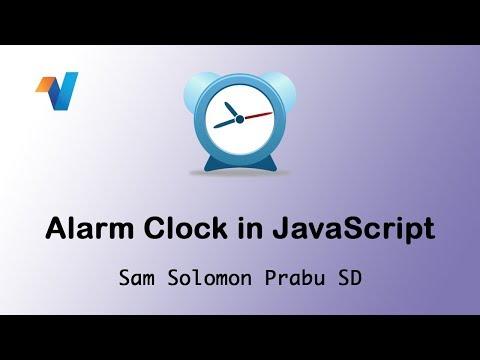 Alarm Clock In JS | JavaScript Tutorials | Web Development Tutorials