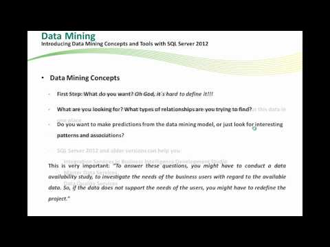 Data Mining With SQL Server 2012 (Part I)