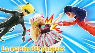 Vidéo en français pour enfants. Barbie et LadyBug.  Stacy est un styliste au salon de beauté