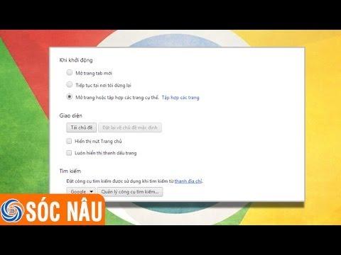 Cách đặt Google làm trang chủ trên Chrome
