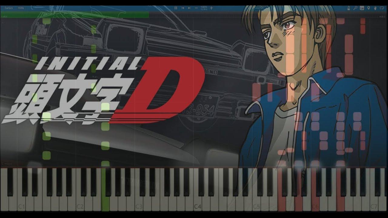 Initial D - Deja Vu [Piano Tutorial] (Synthesia)