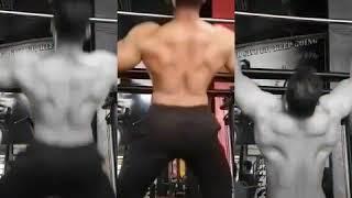 Trainar Rizwan khan pumping iron gym training Chin UP muscle up