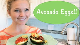 How To Bake An Egg In An Avocado!! Yummy!!