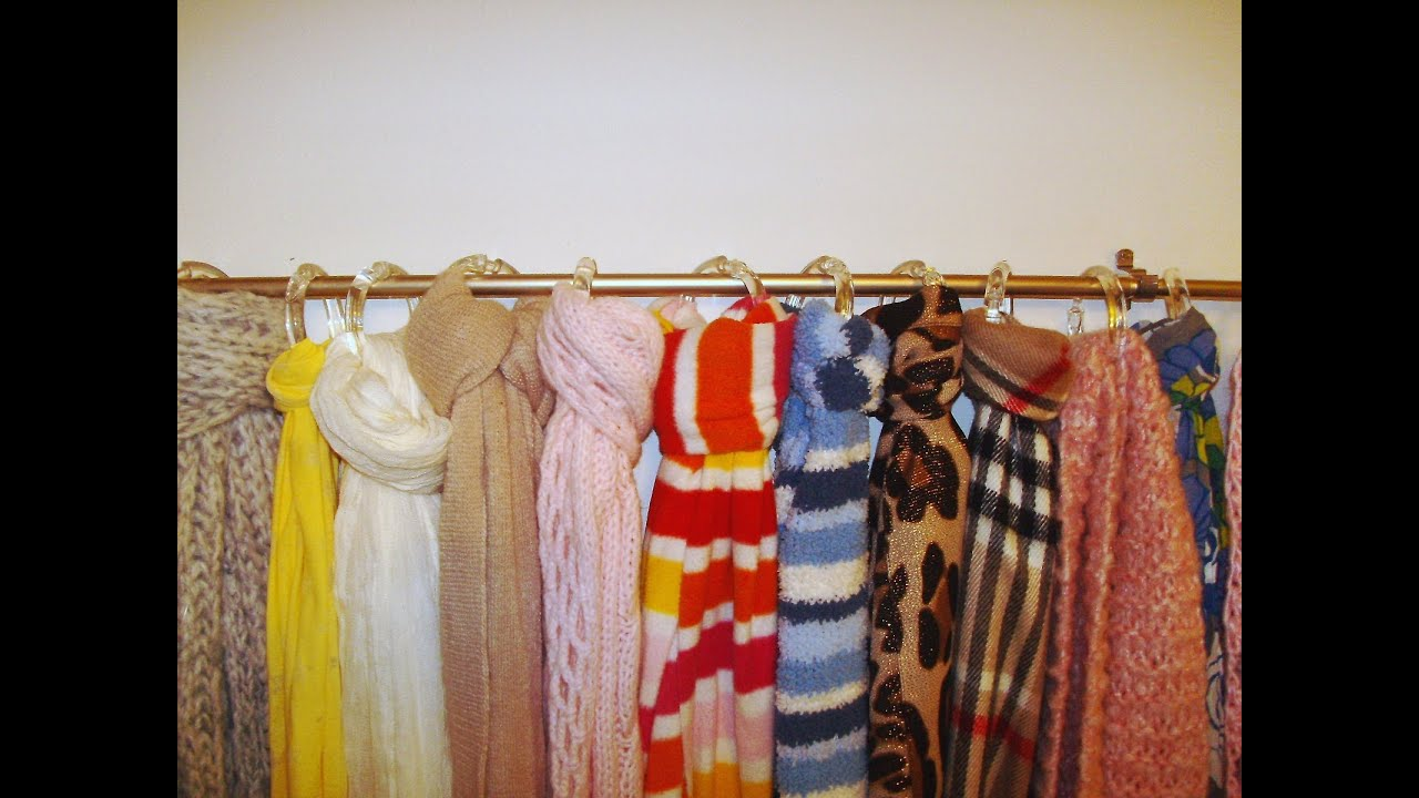 Diy how to make a scarf organizer for under 7 youtube solutioingenieria Images