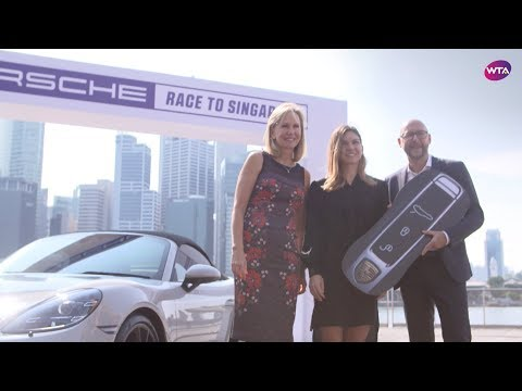 Simona Halep | Porsche Race to Singapore Winner Presentation