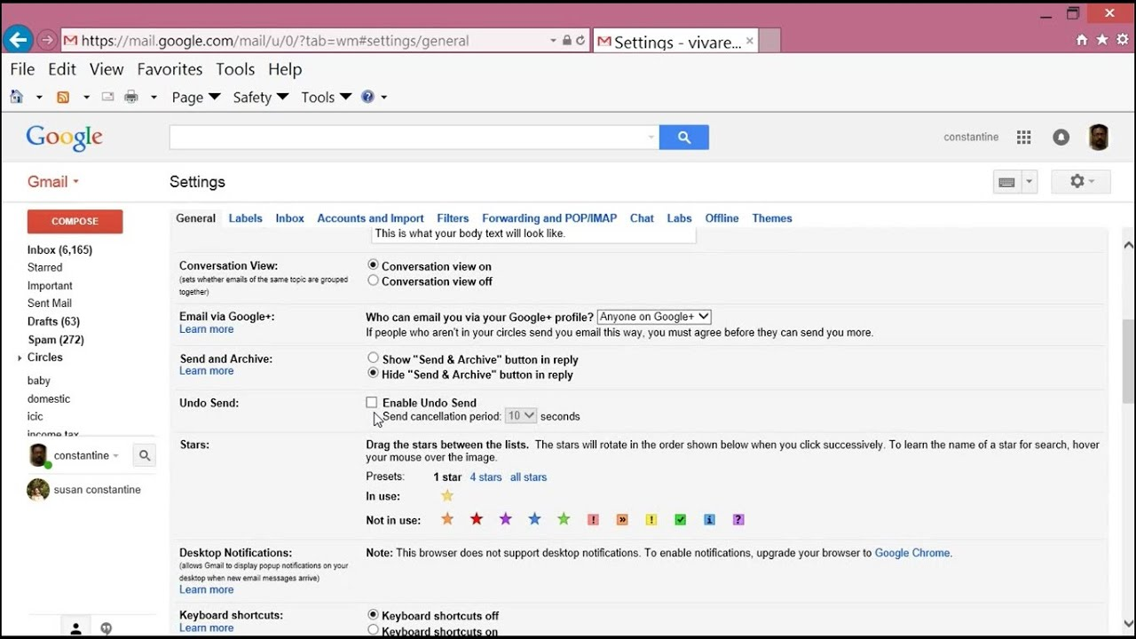 Gmail theme does not work - Gmail Undo Send How It Works
