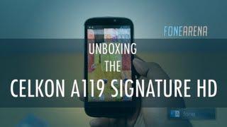 Celkon Signature HD A119 Unboxing