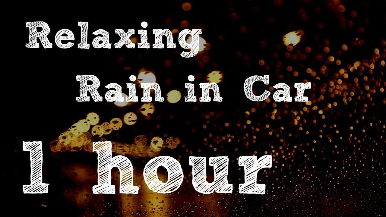 Black screen 1 hour Rain on Car relaxation sound yoga meditation sleep reduce stress 車子下雨背景聲音