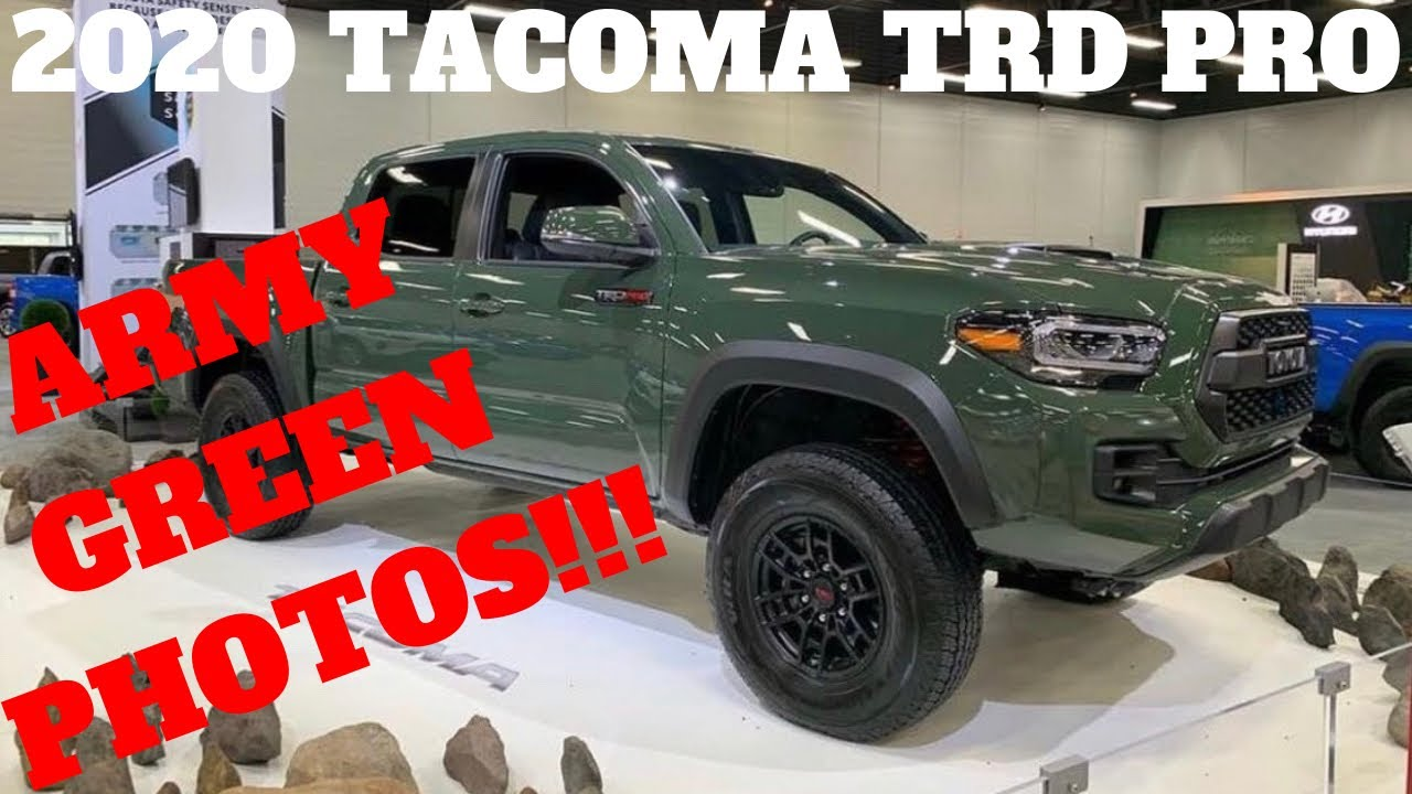 2020 TOYOTA TACOMA TRD PRO ARMY GREEN PHOTOS!! IT'S HERE
